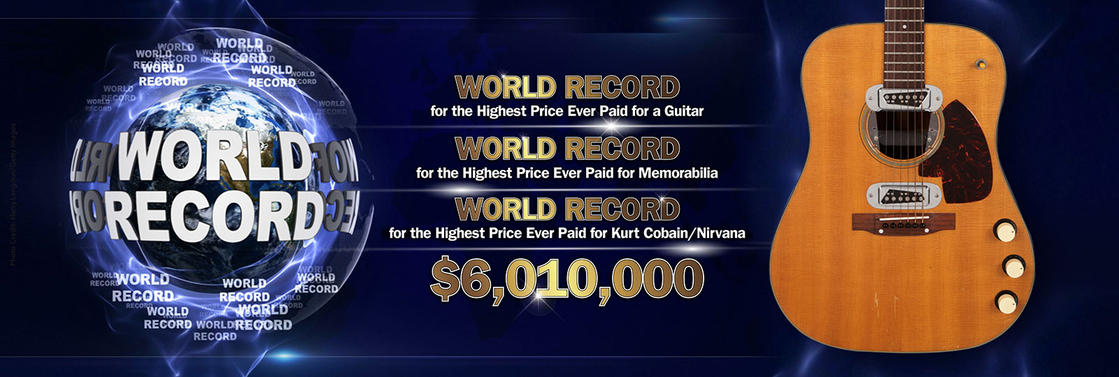 Kurt Cobain Guinness World Record
