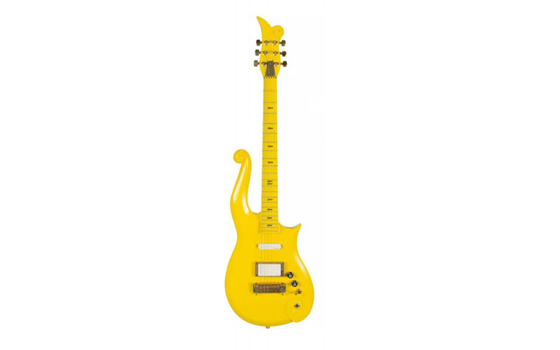 Prince Stage Played Yellow Cloud Guitar